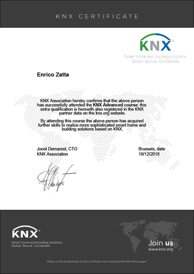Certificato-Advanced-Zatta